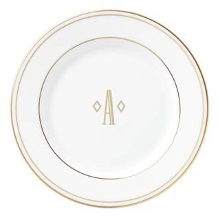 Lenox Federal Gold Block Monogram Tidbit Plate