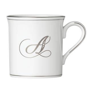 Lenox Federal Platinum Script Monogram Mug