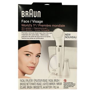 Braun Face 831 Facial Epilator with Carry Pouch and Mirror
