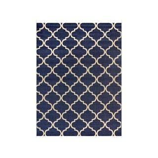 Studio by Brown Jordan Hastings Blue/Grain Area Rug by Gertmenian (5'3'' x 7'5'') - 5'3 x 7'5