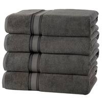 Quick Dry Zero Twist Cotton 4 pack Bath Towels