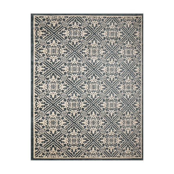 Gertmenian Avenue33 Castile Blue/Ivory Olefin Indoor/Outdoor Area Rug - 7'10 x 10'
