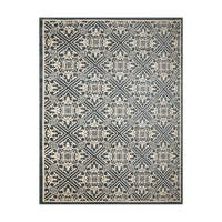 "Gertmenian Avenue33 Castile Blue/Ivory Olefin Indoor/Outdoor Area Rug - 7'10"" x 10'"