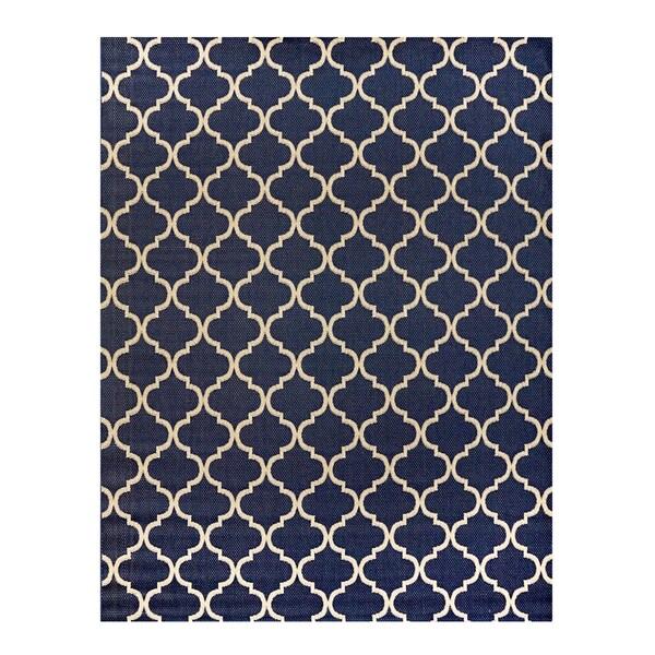 Studio by Brown Jordan Hastings Blue/Grain Area Rug by Gertmenian - 7'10 x 10'