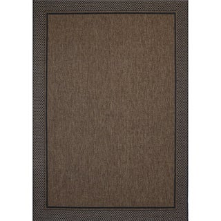 Studio by Brown Jordan Savannah Havava/Black Area Rug by Gertmenian - 7'10 x 10'