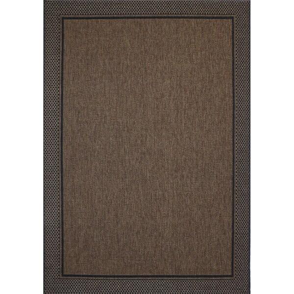 Studio by Brown Jordan Savannah Havava/Black Area Rug by Gertmenian - 7'10 x 10'