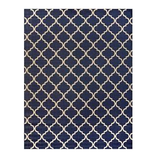Gertmenian Studio by Brown Jordan Hastings Blue/Cream Area Rug (9'2 x 13')