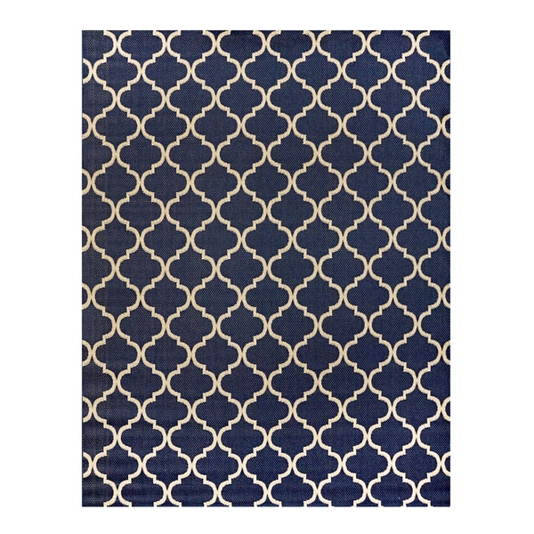 "Studio by Brown Jordan Hastings Blue/Grain Area Rug by Gertmenian - 9'2"" x 13'"