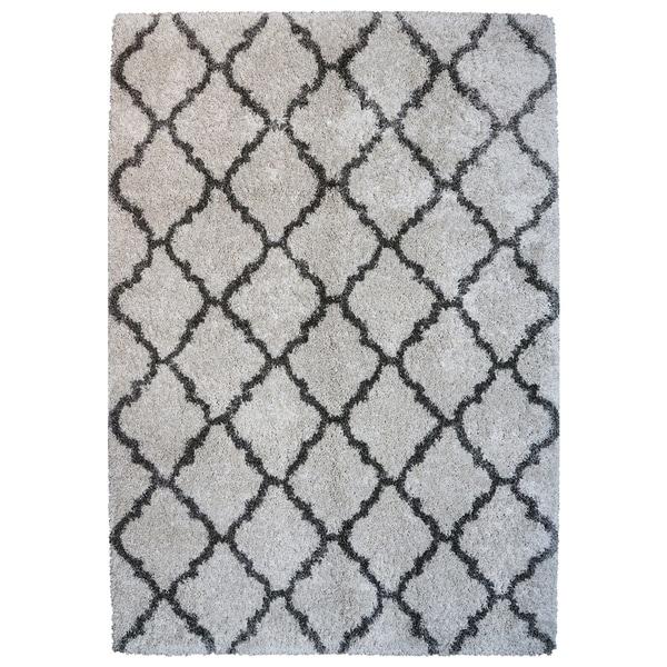 Avenue33 Ultimate Ivory Tile Shag Rug by Gertmenian