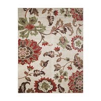 """Avenue33 Thea Indoor/Outdoor Ivory/Red Area Rug by Gertmenian - 5'3"""" x 7'"""