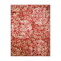 "Avenue33 Ruskin Indoor/Outdoor Red Area Rug by Gertmenian - 7'10"" x 10'"
