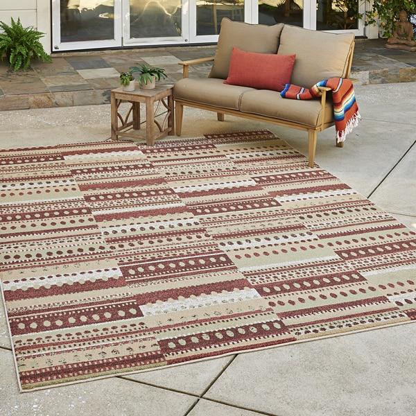 Shop Avenue33 Prescott Indoor Outdoor Rust Brown Ivory