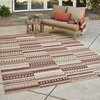 Avenue33 Prescott Indoor/Outdoor Rust/Brown Area Rug by Gertmenian - 5'3 x 7'