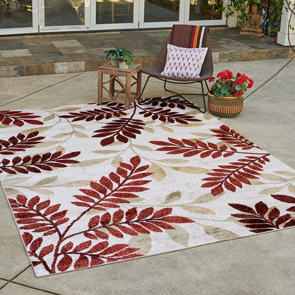 "Avenue33 Holland Indoor/Outdoor Ivory Area Rug by Gertmenian (7'10"" x 10') - 7'10 x 10'"