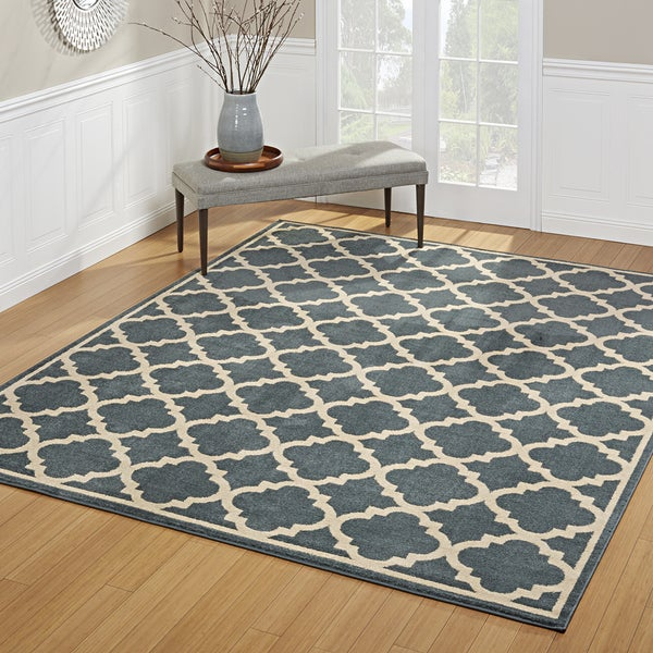"Avenue33 Besson Indoor/Outdoor Blue Area Rug by Gertmenian (7'10"" x 10') - 7'10 x 10'"