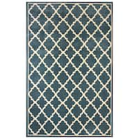 Avenue33 Besson Indoor/Outdoor Blue Area Rug by Gertmenian - 5'3 x 7'