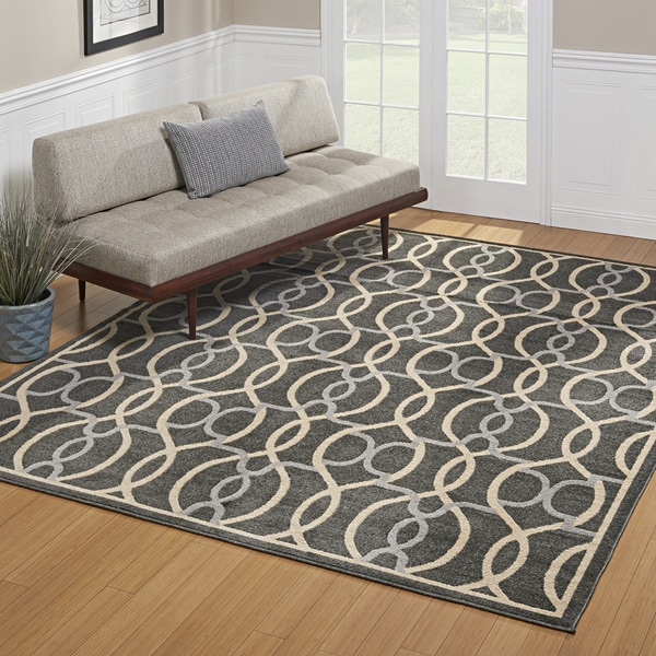 Avenue3 Bennett Indoor/Outdoor Charoal Grey Area Rug by Gertmenian - 7'10 x 10'