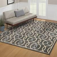 Avenue3 Bennett Indoor/Outdoor Charoal Grey Area Rug by Gertmenian - 7'10 x 10'