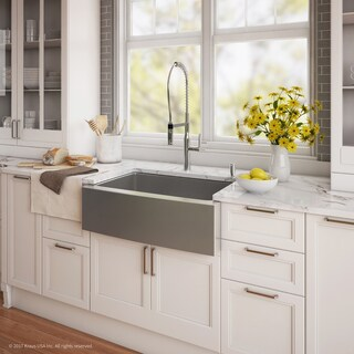 "KRAUS 33"" Farmhouse Sink with Nola Commercial Faucet & Soap Dispenser (2 options available)"