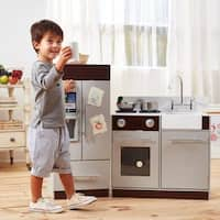 Teamson Kids Urban Luxury Play Kitchen, Grey/Espresso