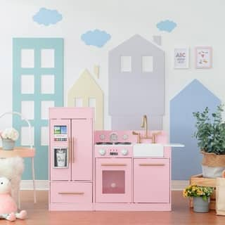 Teamson Kids Urban Luxury Play Kitchen, Pink|https://ak1.ostkcdn.com/images/products/17004905/P23286012.jpg?impolicy=medium