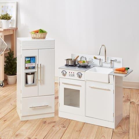 Teamson Kids - Little Chef Chelsea Modern Play Kitchen - White / Gold