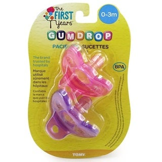 The First Years GumDrop Newborn Pacifier, Girl (Pack of 2)|https://ak1.ostkcdn.com/images/products/17005134/P23286407.jpg?_ostk_perf_=percv&impolicy=medium
