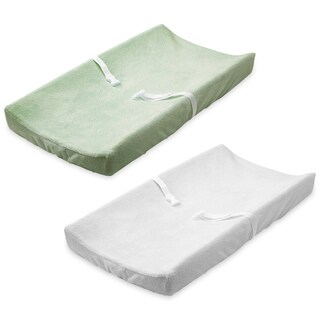 Summer Infant Ultra Plush Change Pad Cover, Sage/Cream, 2 Count