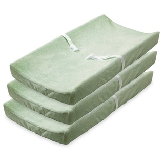 Summer Infant Ultra Plush Changing Pad Covers, 3 Pack, Sage
