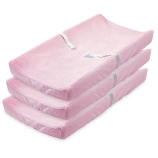 Summer Infant Ultra Plush Changing Pad Covers, 3 Pack, Pink