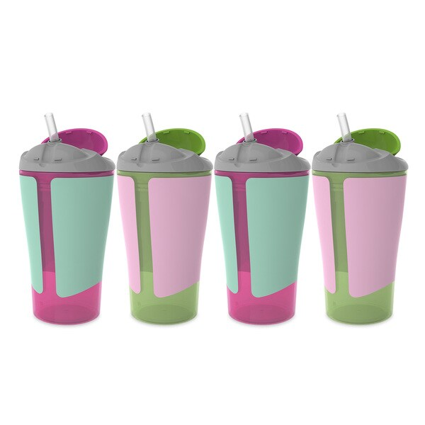 BPA-Free Grow with Me 10 Ounce Straw Cup, 4 Count, Girl 28390983