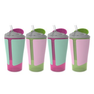 BPA-Free Grow with Me 10 Ounce Straw Cup, 4 Count, Girl