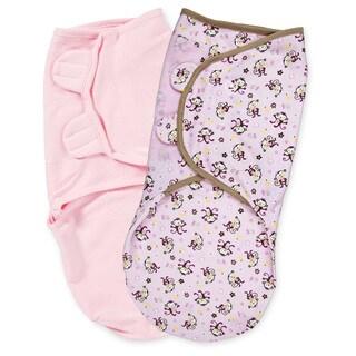 Summer Infant SwaddleMe Adjustable Infant Wrap, 2 Count, Jungle Girl, Small