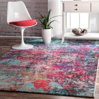 nuLOOM Contemporary Abstract Painting Multi Rug (6'7 x 9')
