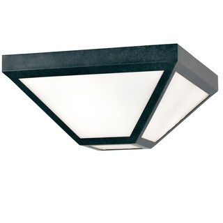 Crystorama Brian Patrick Flynn Glacier Collection 2-light Black Charcoal Outdoor Flush Mount