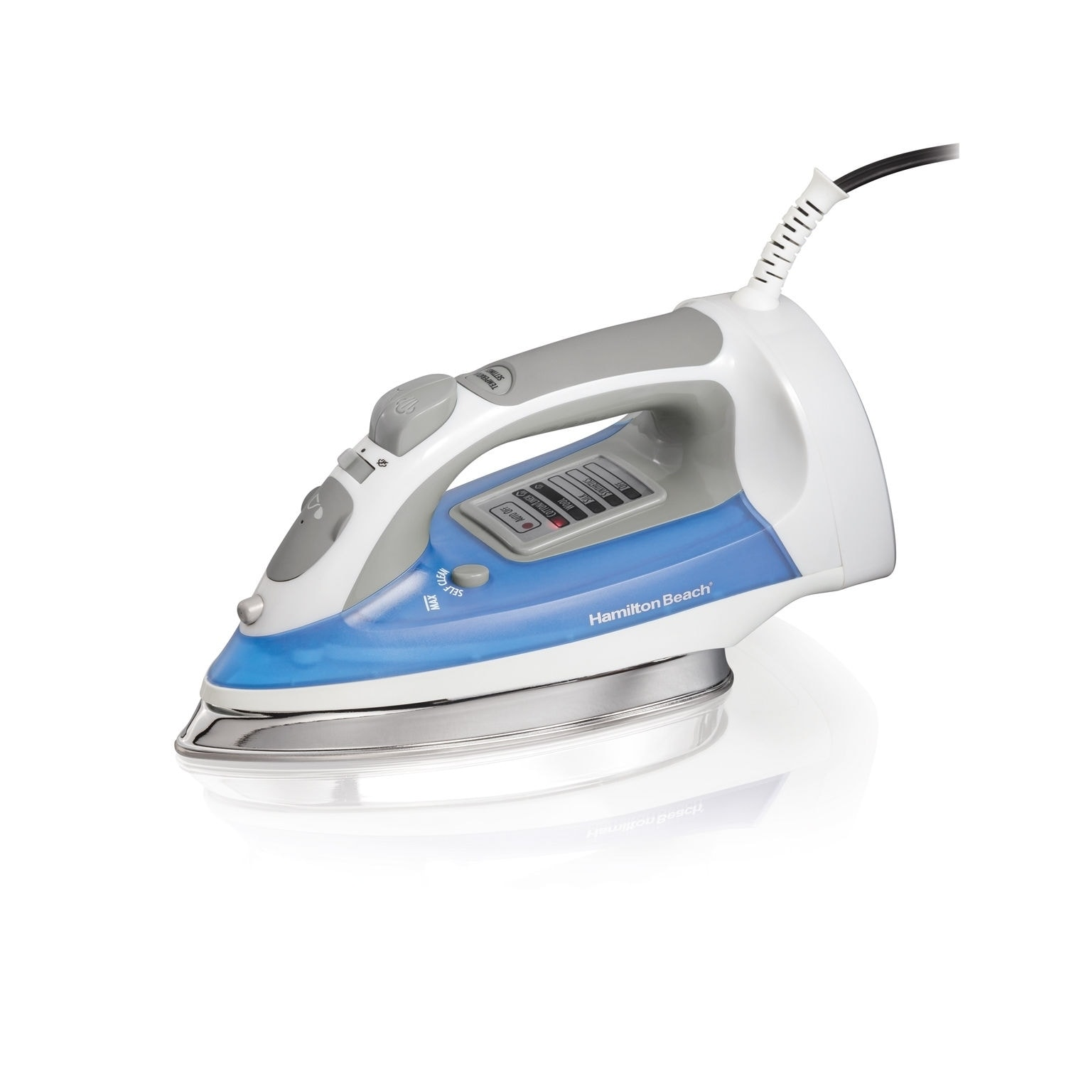 Hamilton Beach Electronic Iron with Stainless Steel Solep...