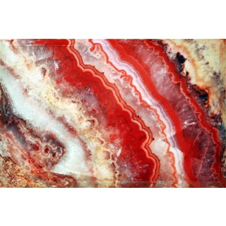 Empire Art Red Agate Beveled Canvas Giclee w/ Epoxy