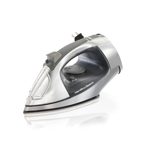 Hamilton Beach Retractable Cord Iron with Stainless Steel Soleplate