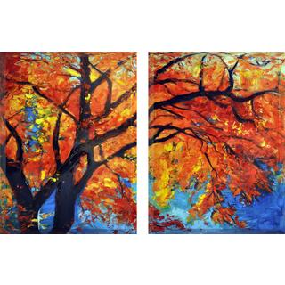 Empire Art Autumn Beveled Hand Painted with Epoxy