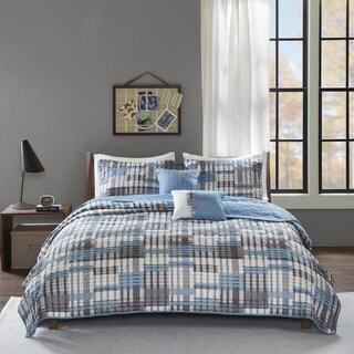 Intelligent Design Beau Aqua 5-piece Coverlet Set