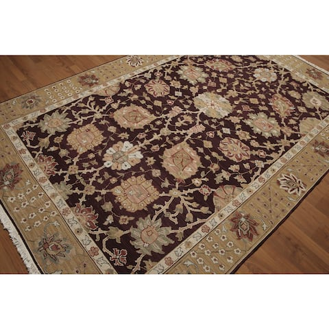 "Reversible Soumak Multi Color Hand Knotted Rug - 5'10"" x 8'10"""