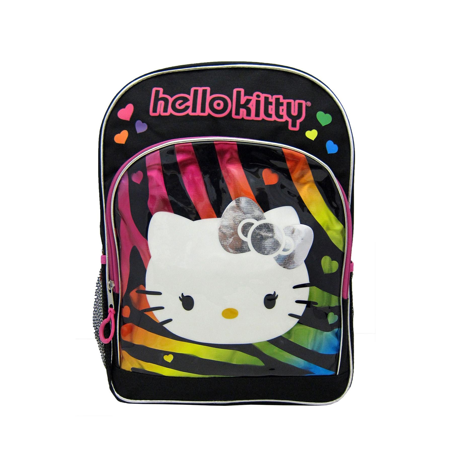 Hello Kitty Rainbow Zebra 16-inch Backpack (Hello Kitty),...