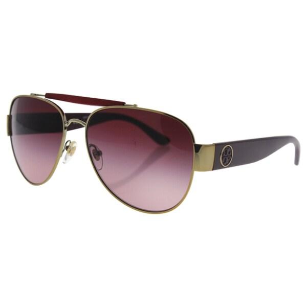 330585e1b0 Tory Burch TY 6043Q 31138H Women s Gold Bordeaux Frame Burgundy Lens  Sunglasses