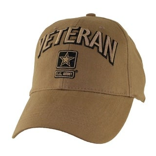 US Army Veteran Baseball Hat Coyote Brown