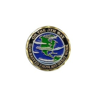 The 7 Days of Creation Spiritual Good Luck Double Sided Collectible Challenge Coin
