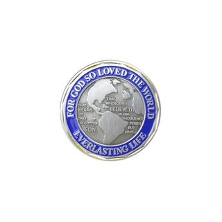 John 3:16 Everlasting Love Everlasting Life Religious Double Sided Collectible Challenge Coin