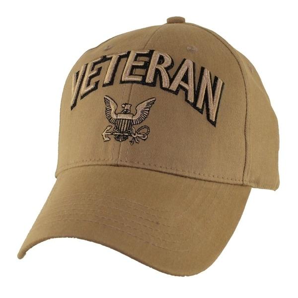 US Navy Veteran Baseball Hat Coyote Brown