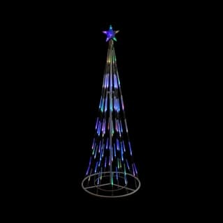 6' White Double Tier Bubble Cone Christmas Tree Lighted Yard Art Decoration - Multi Lights|https://ak1.ostkcdn.com/images/products/17006460/P23287799.jpg?impolicy=medium