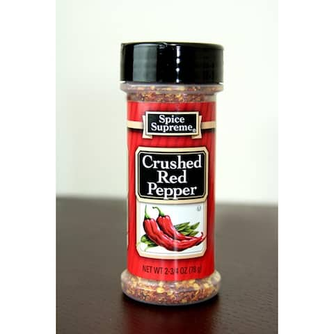 Pack of 12 Spice Supreme Crushed Red Pepper Seasonings 2.75 oz. #30470