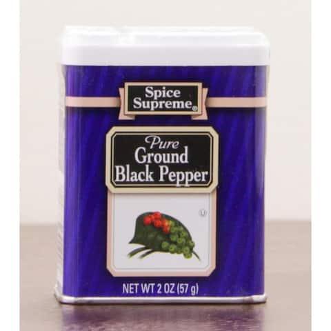 Pack of 24 Spice Supreme Pure Ground Black Pepper Seasonings 2 oz. #30190